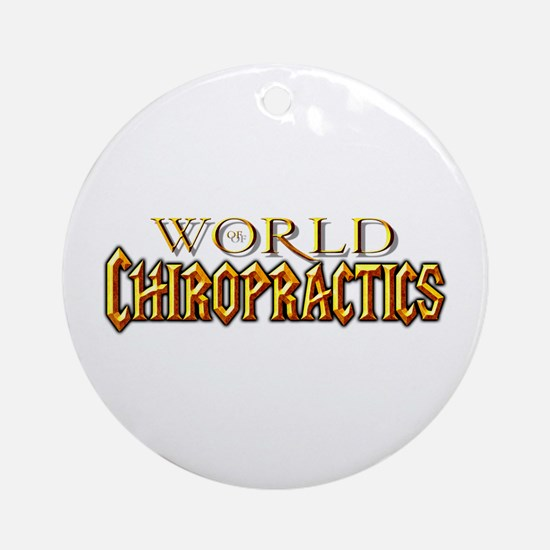 World of Chiropractics Ornament (Round)