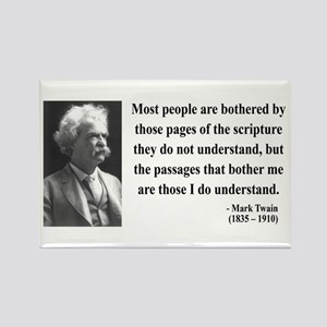 Mark Twain 21 Rectangle Magnet
