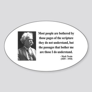 Mark Twain 21 Oval Sticker