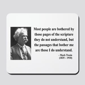 Mark Twain 21 Mousepad