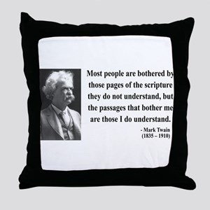 Mark Twain 21 Throw Pillow