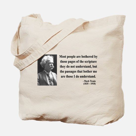 Mark Twain 21 Tote Bag