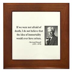 Bertrand Russell 5 Framed Tile