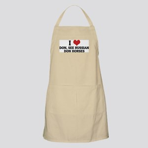 I Love Don, See Russian Don H BBQ Apron