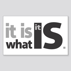 It is What it Is Rectangle Sticker