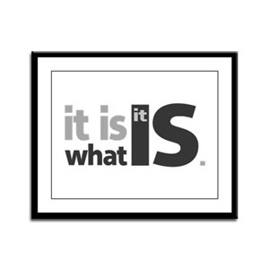 It is What it Is Framed Panel Print