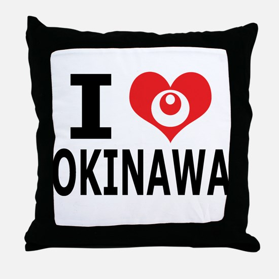 Unique Okinawa Throw Pillow