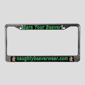 Bare Your Beaver License Plate Frame