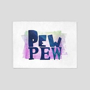 Pew Pew 5'x7'Area Rug