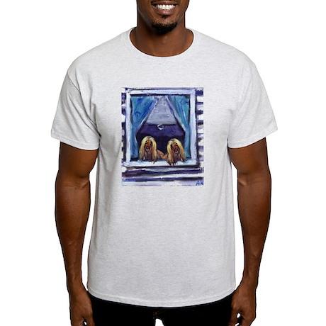 AFGHAN HOUND window Ash Grey T-Shirt
