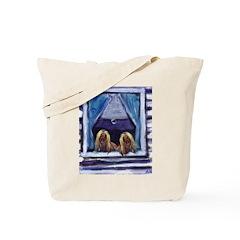 AFGHAN HOUND window Tote Bag