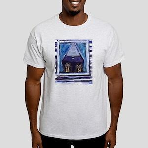 COONHOUND window Ash Grey T-Shirt