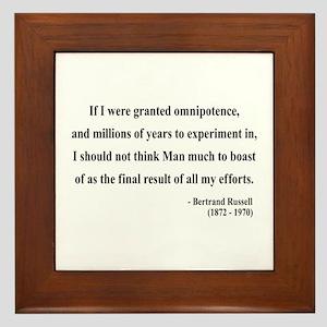 Bertrand Russell 11 Framed Tile