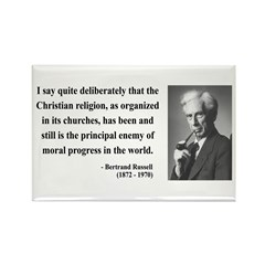 Bertrand Russell 12 Rectangle Magnet (10 pack)