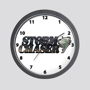 Storm Chaser Text Wall Clock
