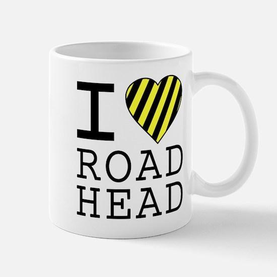 I Love Road Head Mug
