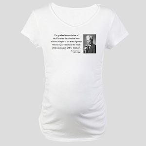 Bertrand Russell 17 Maternity T-Shirt