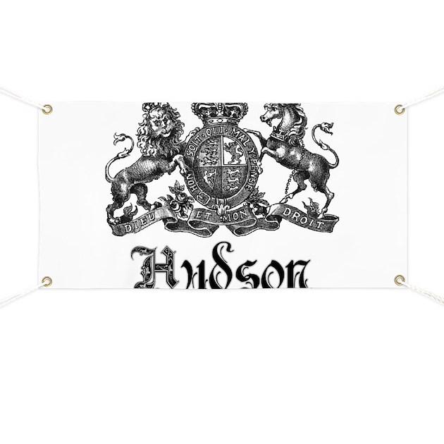 Hudson Vintage Crest Last Name Banner By Bestnametees