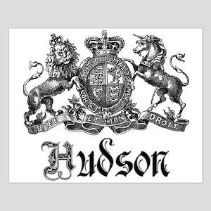 Hudson Vintage Crest Last Name Small Poster