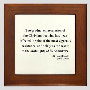Bertrand Russell 17 Framed Tile