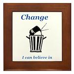 Change for the Better Framed Tile