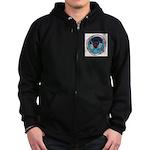 Bear Heart Mens Zip Hoodie (dark) Sweatshirt