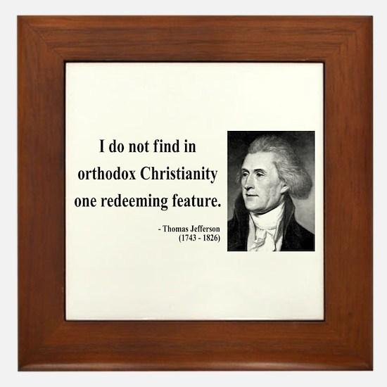 Thomas Jefferson 12 Framed Tile