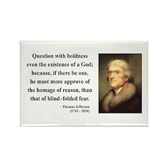 Thomas Jefferson 13 Rectangle Magnet (10 pack)