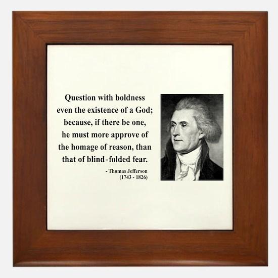 Thomas Jefferson 13 Framed Tile