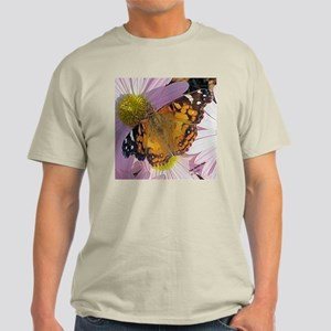 Painted Lady Butterfly Ash Grey T-Shirt