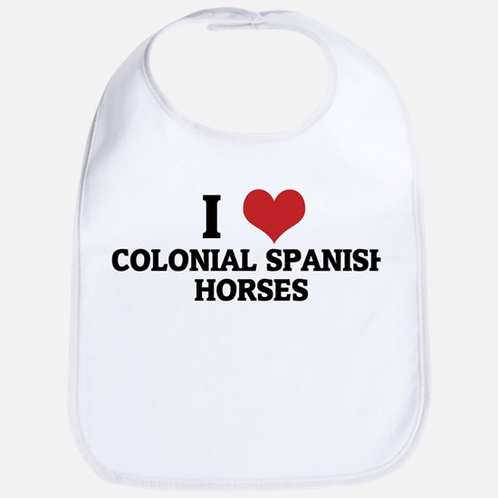 I Love Colonial Spanish Horse Bib