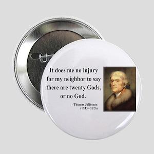 """Thomas Jefferson 9 2.25"""" Button"""