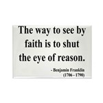 Benjamin Franklin 15 Rectangle Magnet (100 pack)