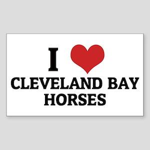 I Love Cleveland Bay Horses Rectangle Sticker