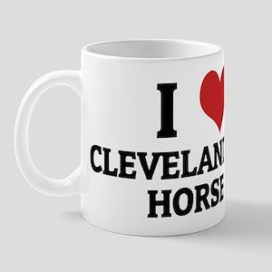 I Love Cleveland Bay Horses Mug