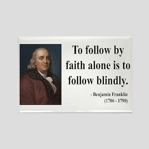 Benjamin Franklin 16 Rectangle Magnet