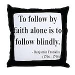 Benjamin Franklin 16 Throw Pillow