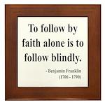 Benjamin Franklin 16 Framed Tile