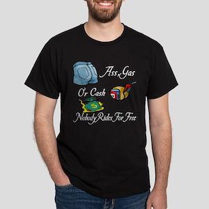 Funny Ass, Gas, or Cash Desig Dark T-Shirt