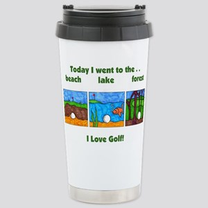 I Love Golf Stainless Steel Travel Mug
