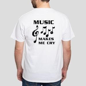 I LIVE FOR MUSIC White T-Shirt