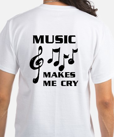 I LIVE FOR MUSIC White T-Shirt