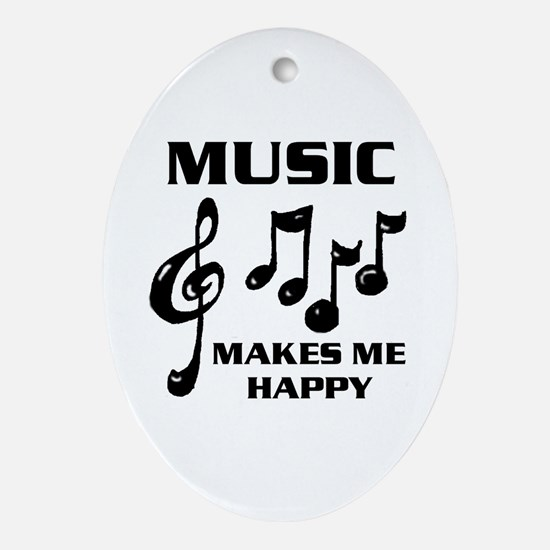 I LIVE FOR MUSIC Oval Ornament