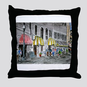 Savannah Georgia River Street Throw Pillow