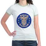 USS LAWRENCE Jr. Ringer T-Shirt