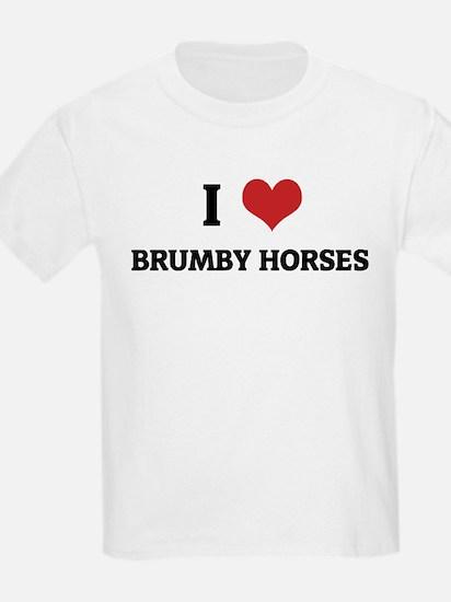 I Love Brumby Horses Kids T-Shirt