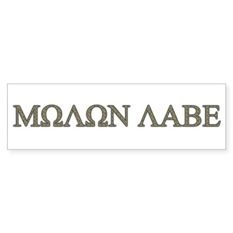 Molon Labe - Greek Lettering Bumper Sticker