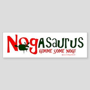 Eggnog - Nogasaurus Sticker (Bumper)
