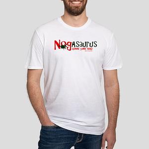 Eggnog - Nogasaurus Fitted T-Shirt