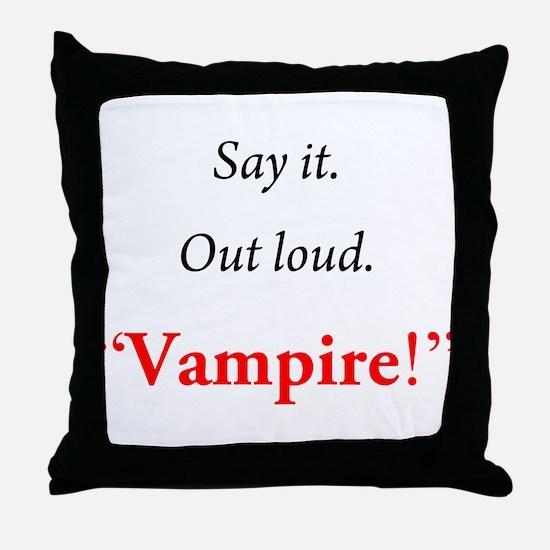 Twilight: Say It Throw Pillow